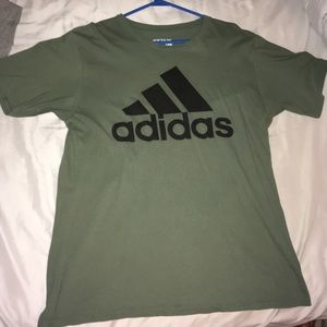 Olive Green Adidas Logo T-Shirt